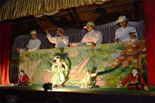 缅甸木偶表演
