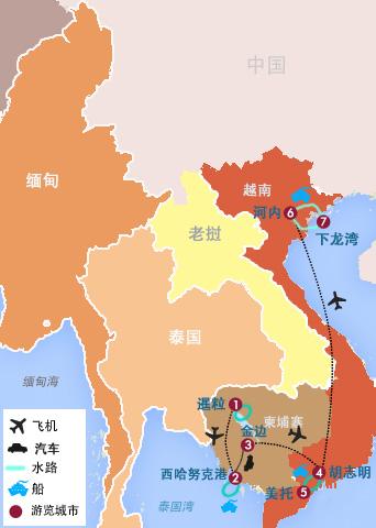 越南vietnam地图