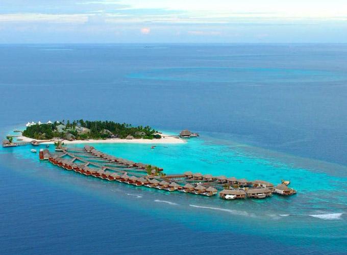 珊瑚岛俯视图